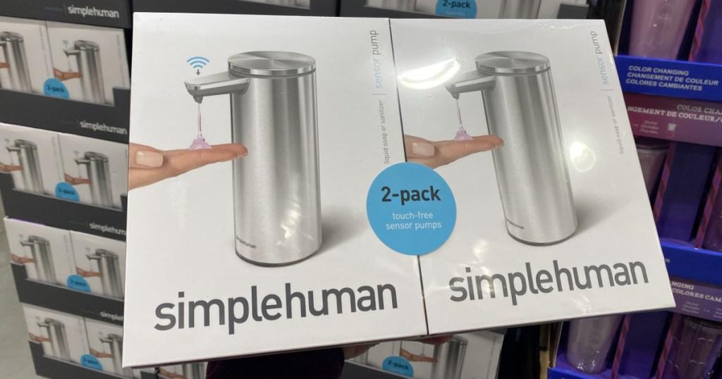 Simplehuman brand soap dispensers