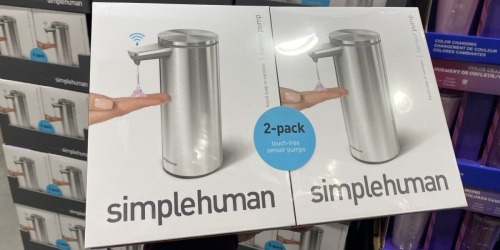 Simplehuman Touch-Free Soap Dispenser 2-Pack Only $69.99 at Costco