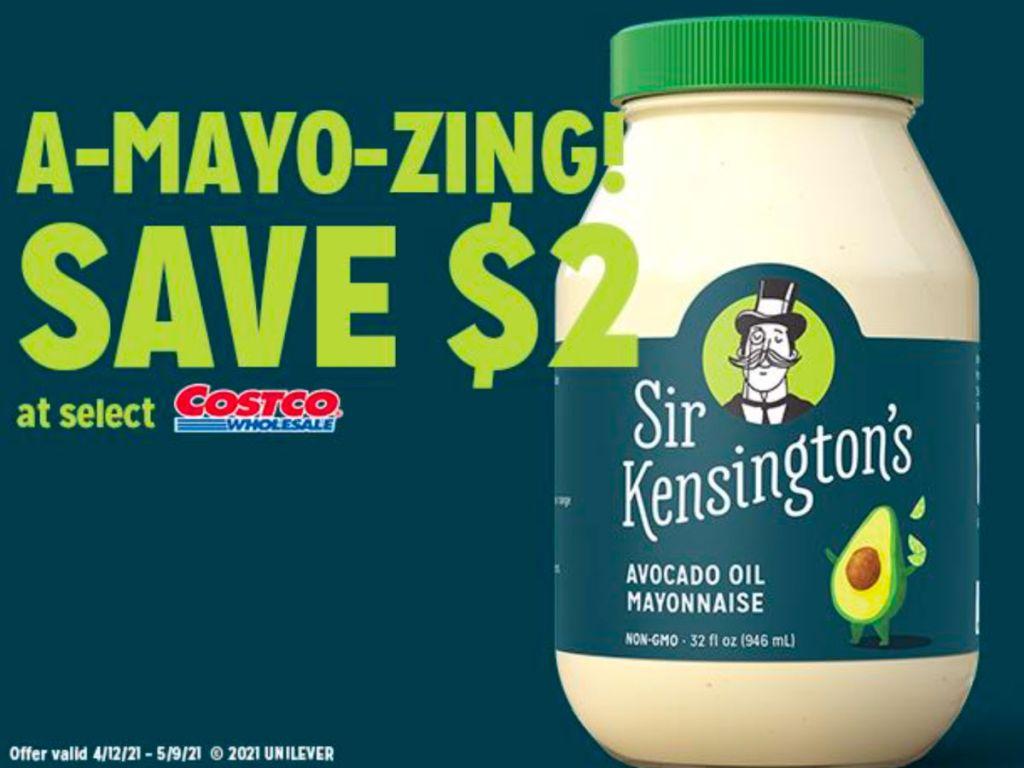 Ad for Sir Kensington's Mayo at Costco