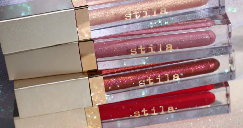 Stila Lip Gloss stacked