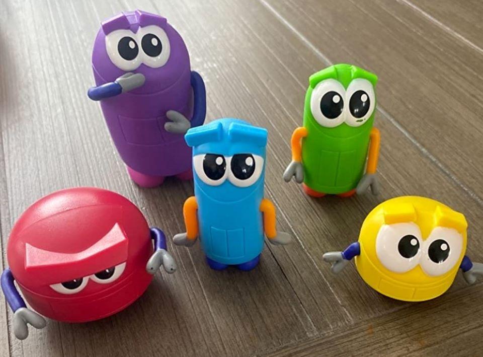 five Storybots figures