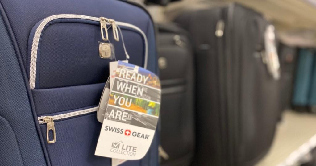 luggage on shelf