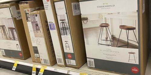 50% Off Furniture at Target | Industrial Wood Top Barstool Only $35 (Regularly $70)