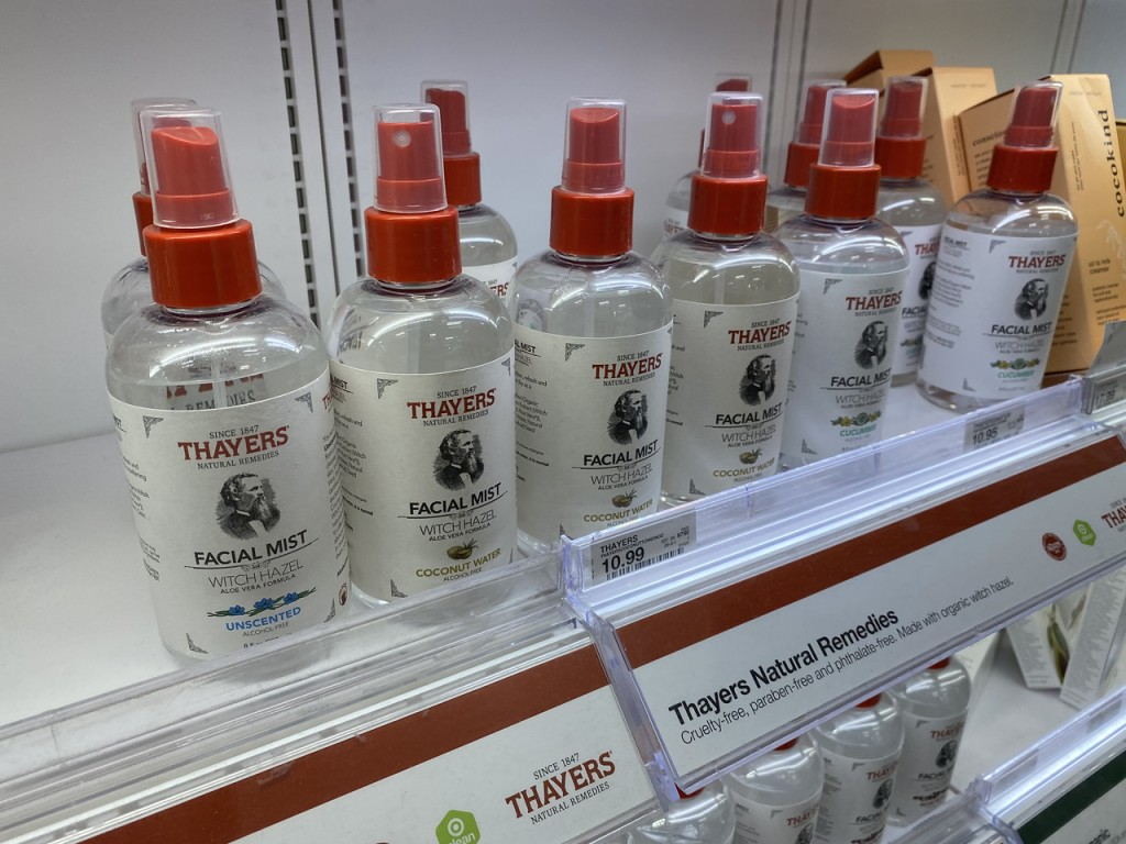 Thayers Facial Mist on Target Shelf
