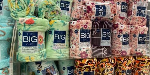 The Big One Plush Throw Blankets from $7 Shipped for Select Kohl's Cardholders (Regularly $30)