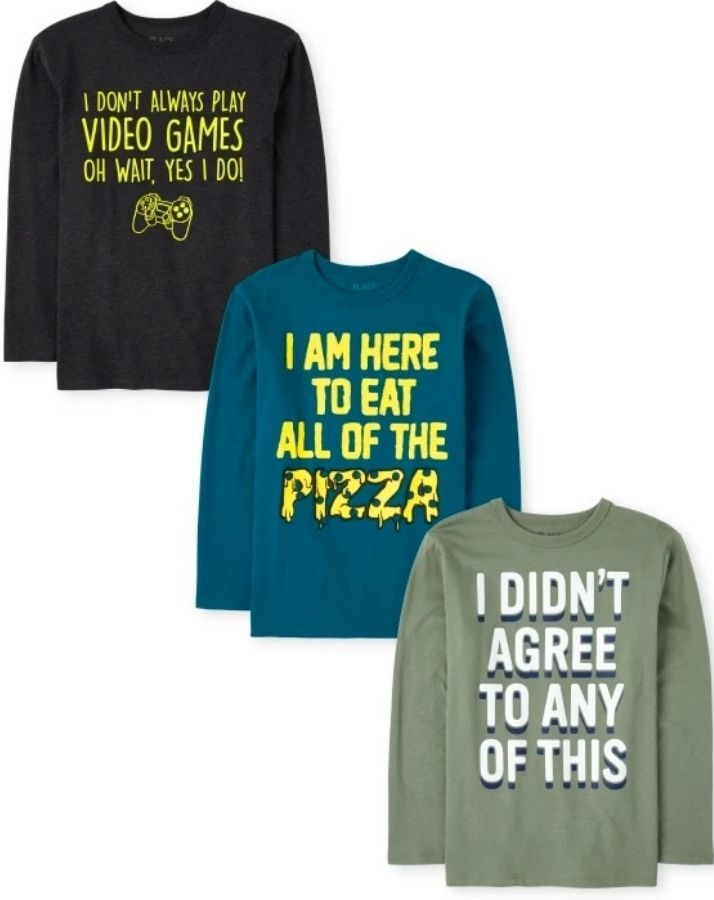 3-pack of boys graphic tees from The Children's Place