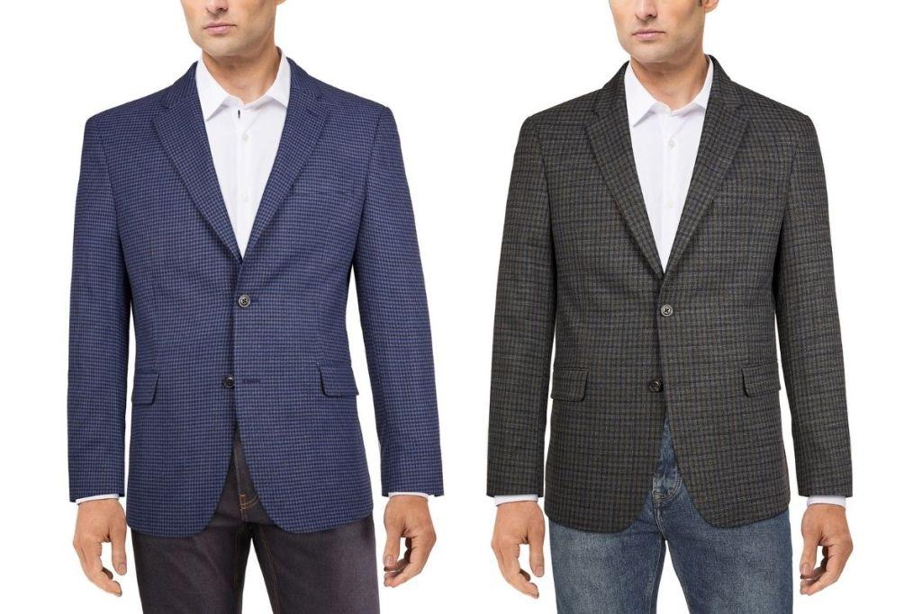 men in Tommy Hilfiger Men's Modern-Fit Patterned Blazers