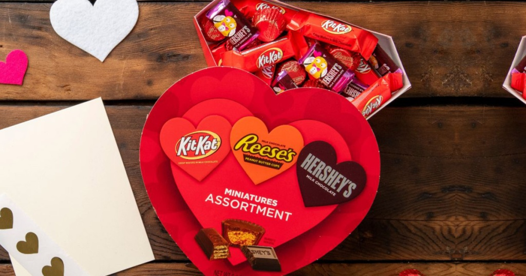 Hershey's and Reese's Valentine Heart Candy