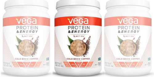Vega Cold Brew Coffee Protein Powder 18.6oz Canister Only $14 Shipped on Amazon (Regularly $35)