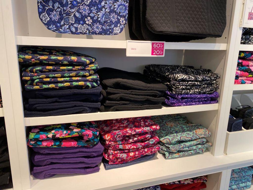 display of Vera Bradley bags