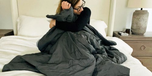 Weighted Blanket w/ Washable Duvet Cover Just $29 Shipped on Amazon | Soothes Anxiety & Insomnia