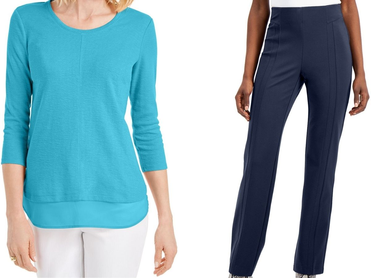 Women's pants and sweater macy's (1)