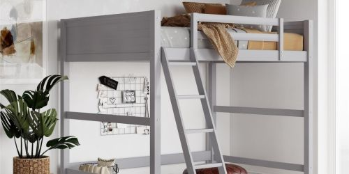 Twin Wooden Loft Bed w/ Ladder Only $99.97 Shipped on Walmart.com (Regularly $300)