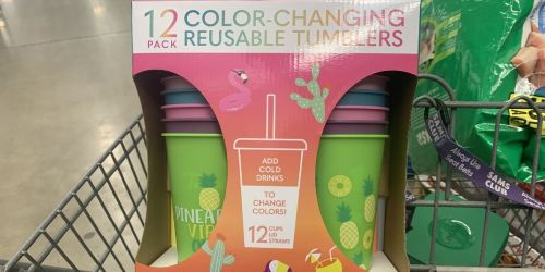 Zak Color-Changing Tumblers w/ Lids & Straws 12-Pack Only $14.98 for Sam's Club Members