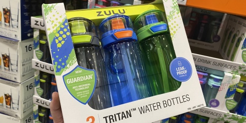 ZULU Kids Water Bottles 3-Pack Only $8.99 at Costco (Just $3 Per Bottle)