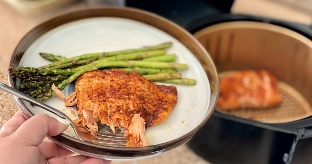 air fryer salmon from butcher box review