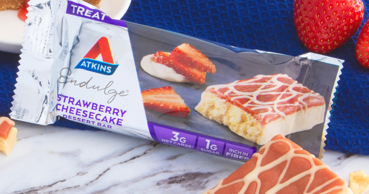 atkins strawberry cheesecake bar