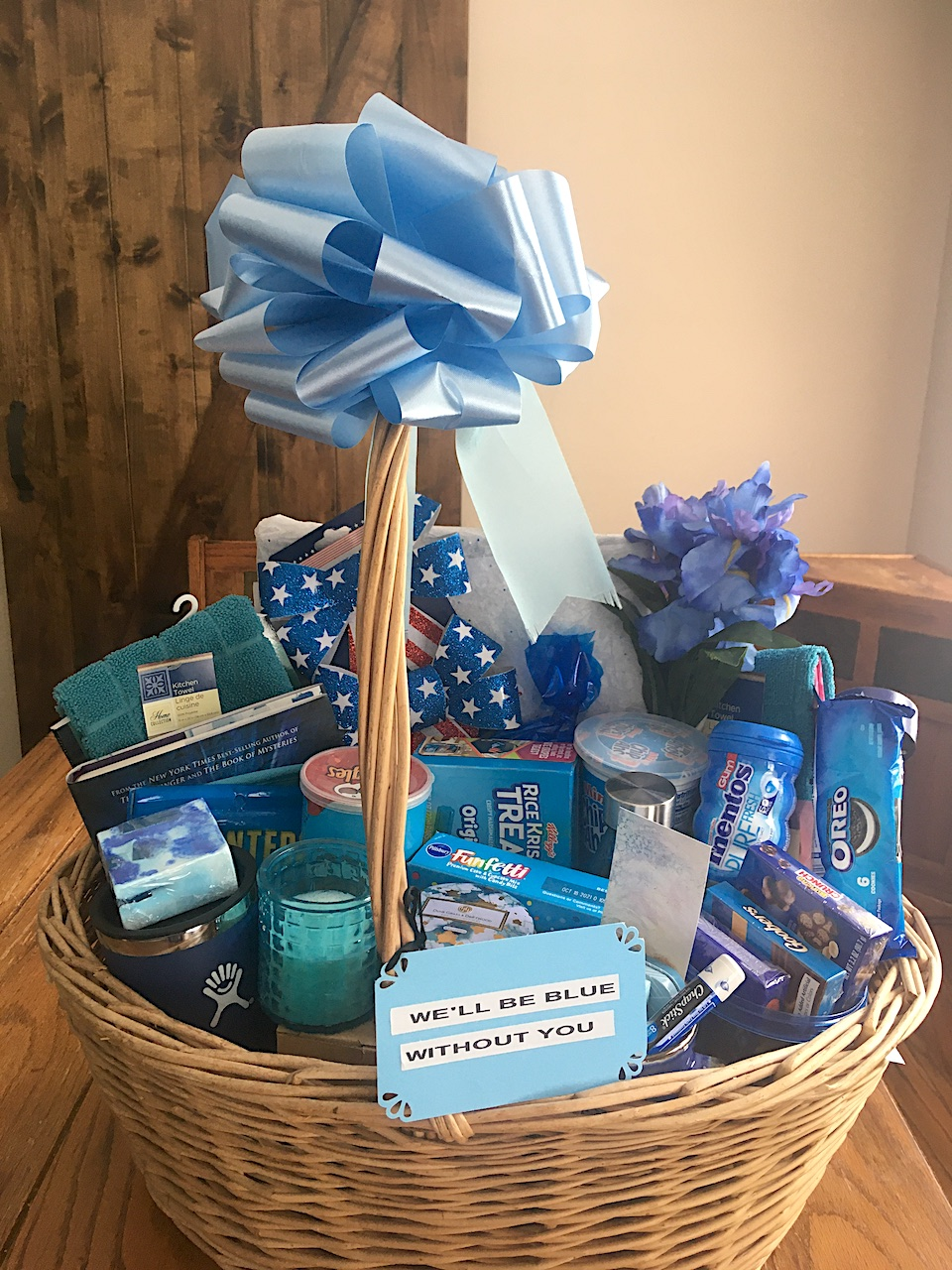 gift basket filled with goodies