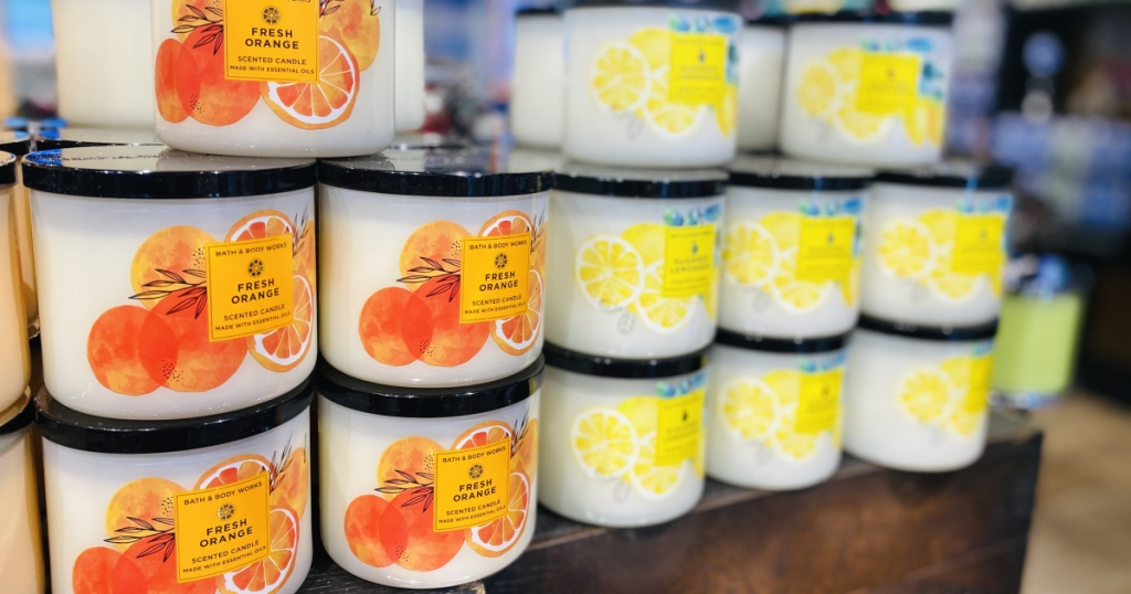 bath and body works citrus candles in store