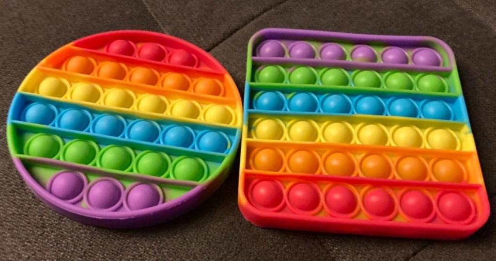 two bubble fidget toys