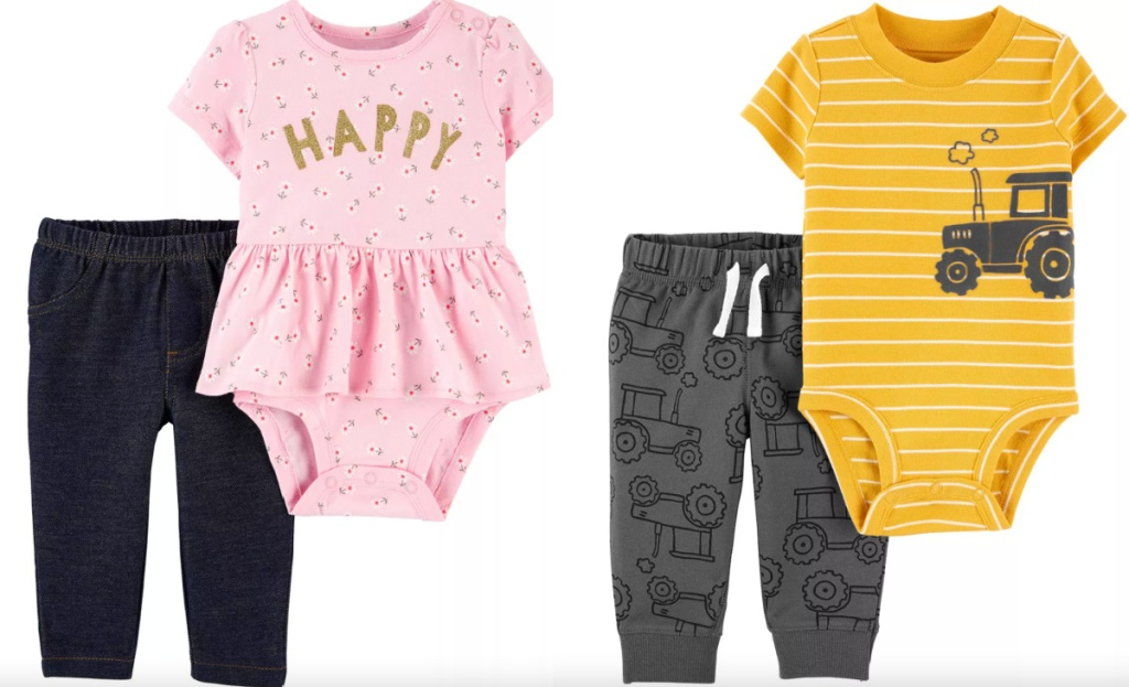 carters 2 piece outfits boys and girls