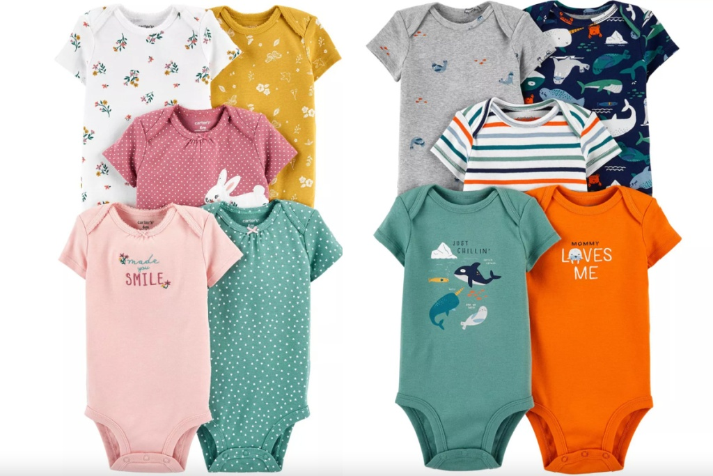 carters bodysuits 5-pack