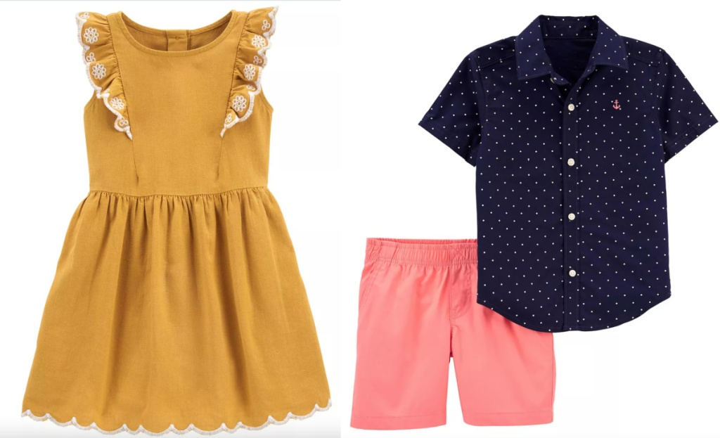 carters toddler outfits dress and shorts outfit