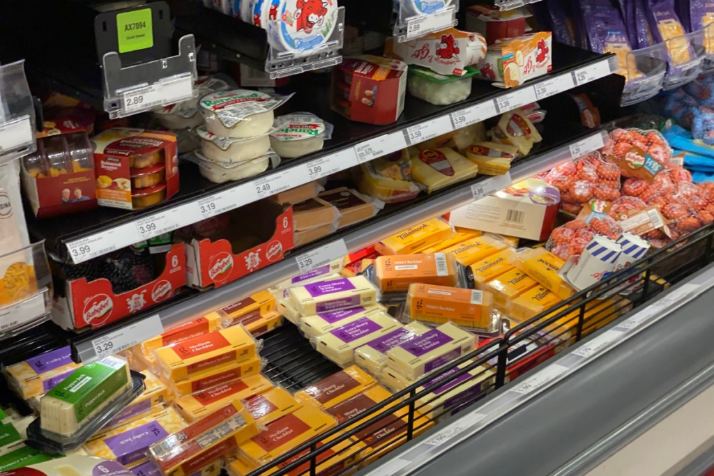 cheese at target in store