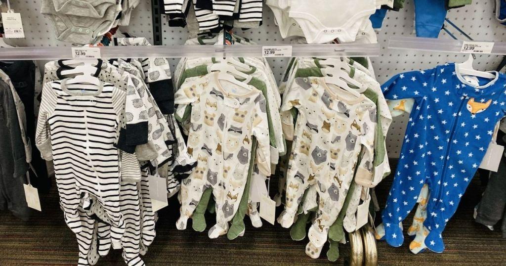 baby sleepers on rack