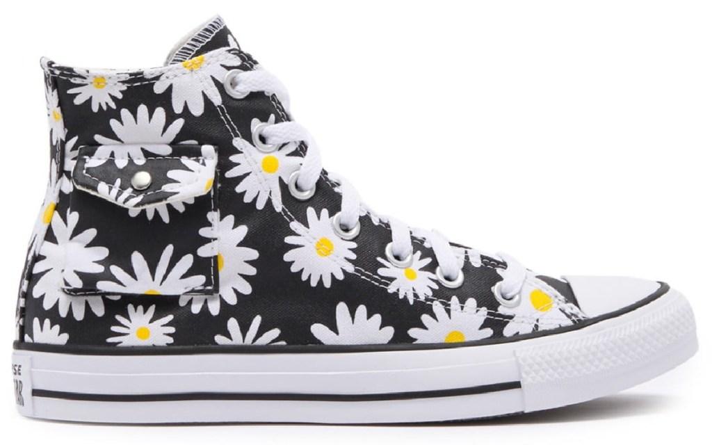 converse daisy print shoe