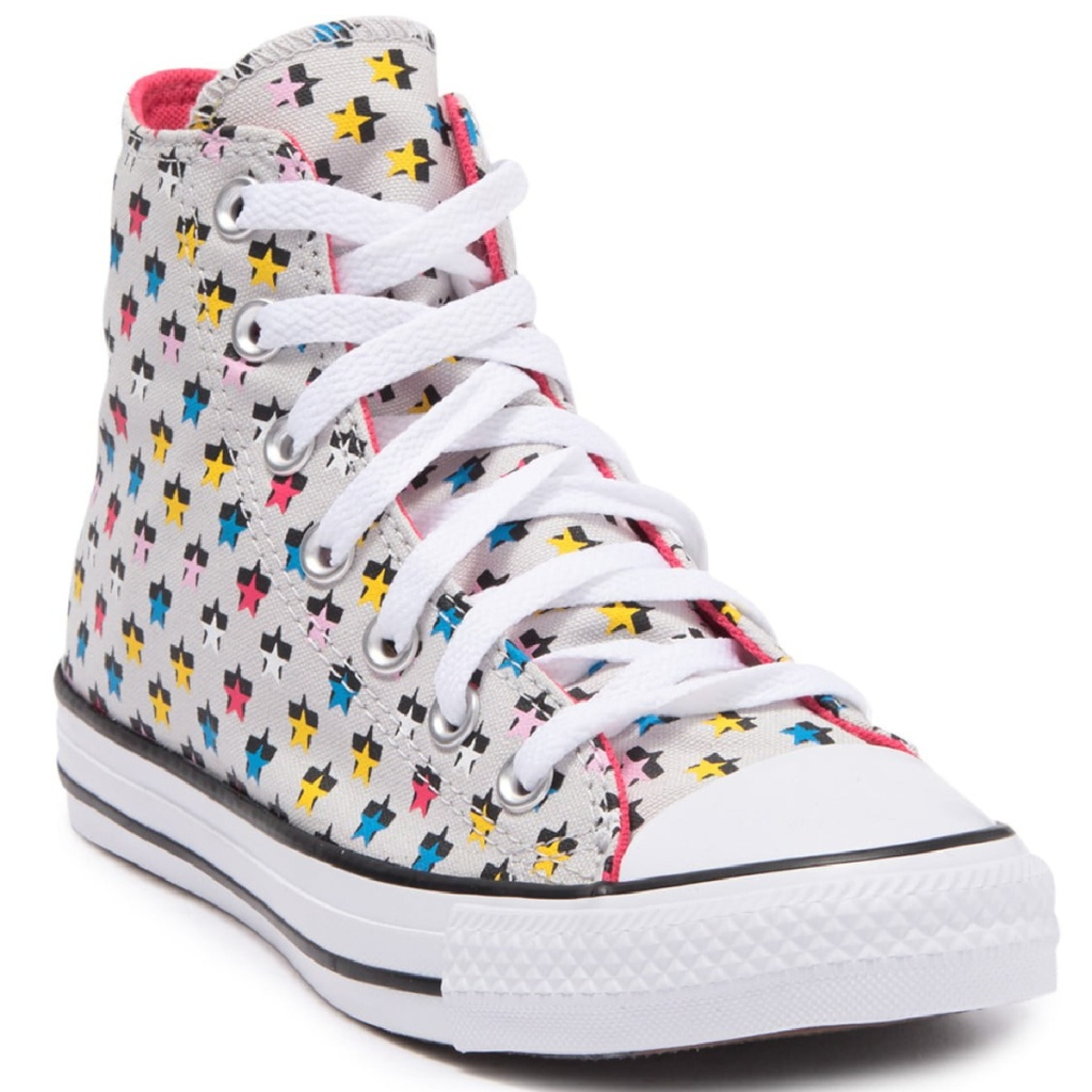 converse high top star print shoe