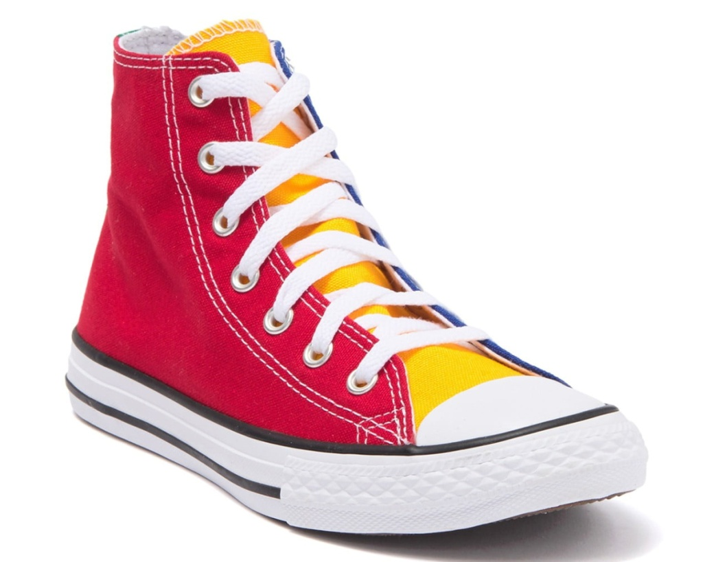 converse kids colorblock shoe high top