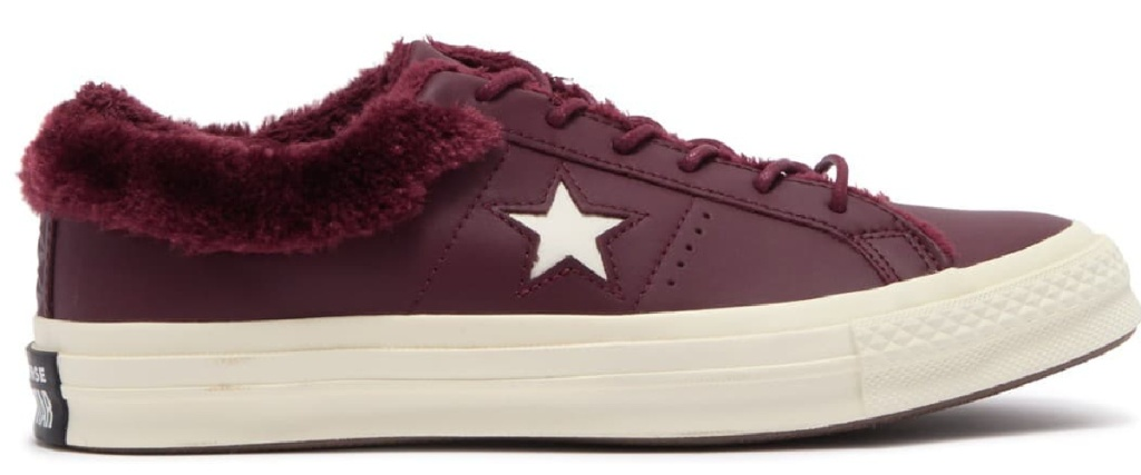 converse one star shoe maroon