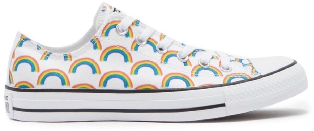 converse rainbow print shoe