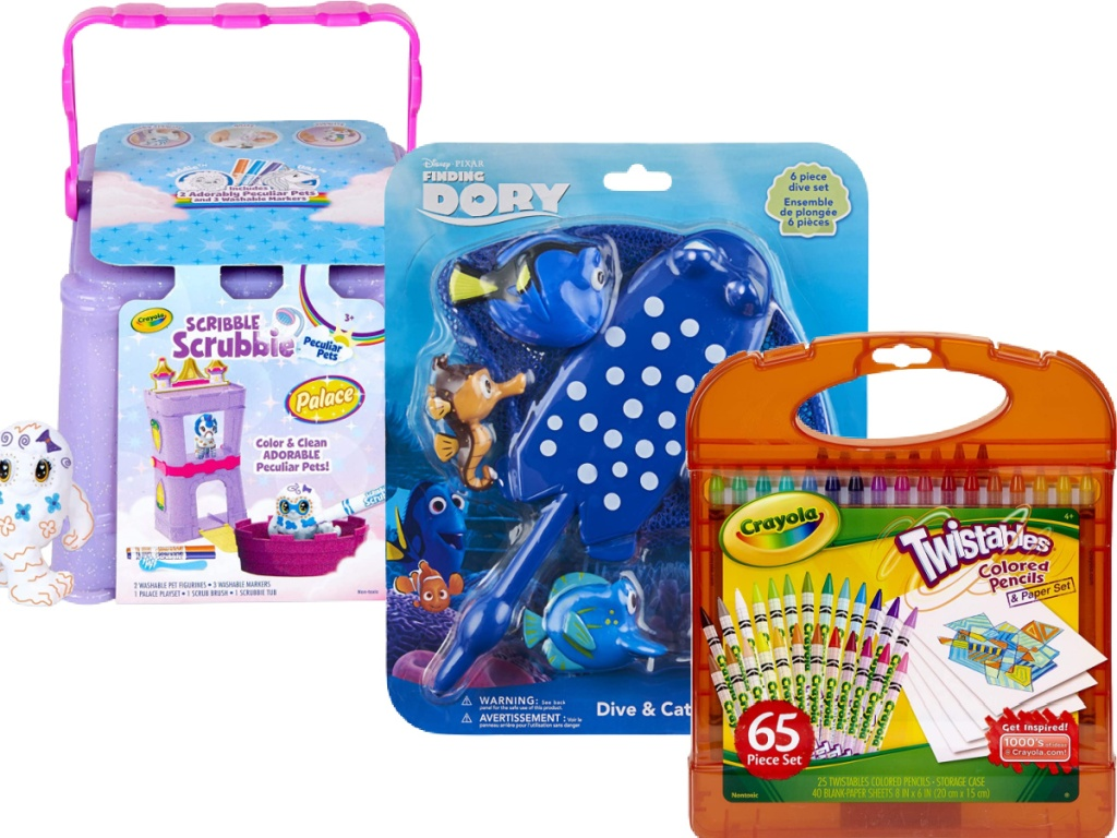 crayola kits and finding dory toys