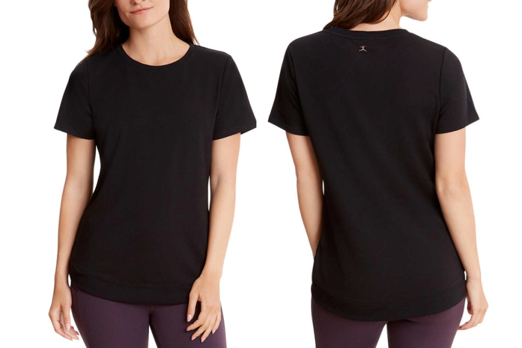 danskin womens top front and back