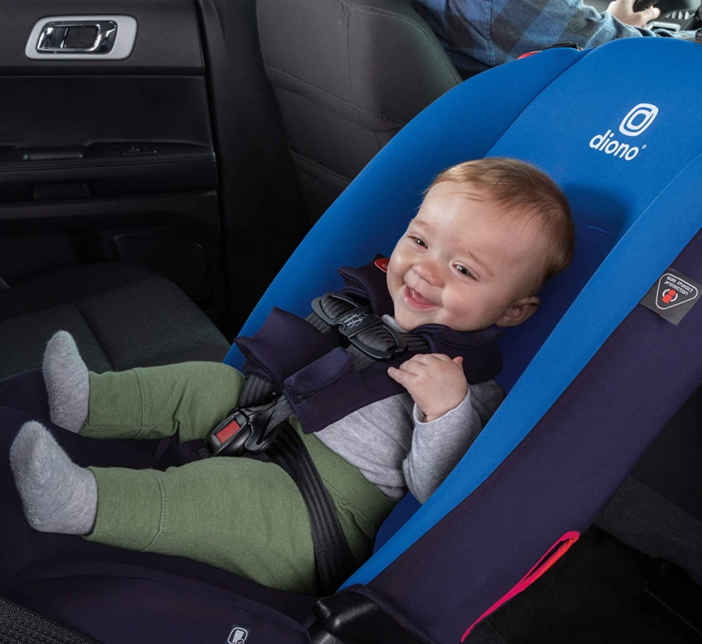 baby in diono radian car seat