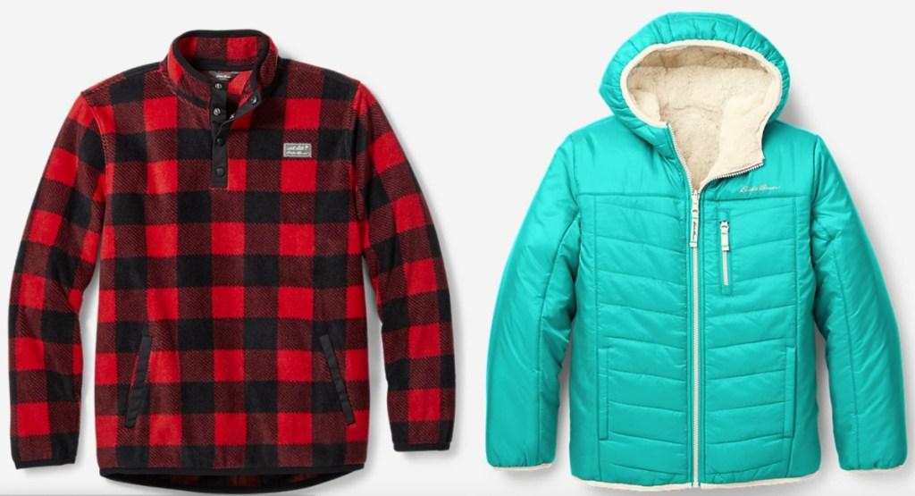 two eddie bauer kids outerwear