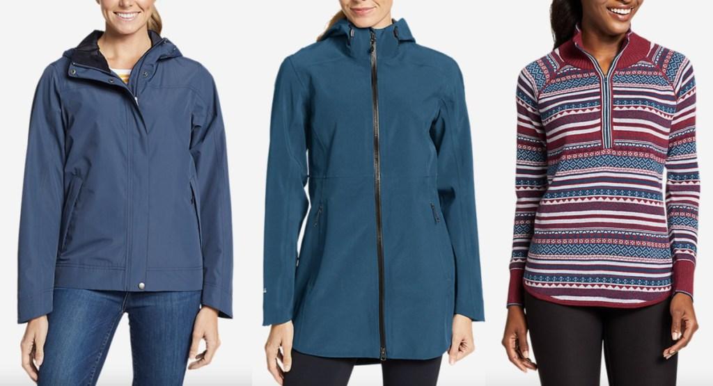 three eddie bauer womens jackets