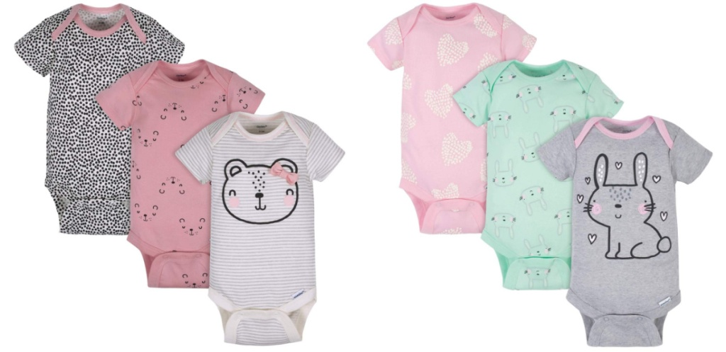 bear and bunny girls sleeper sets
