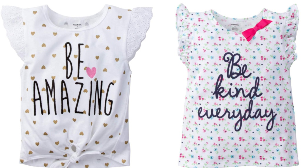 be amazing and be kind everyday ruffle tees