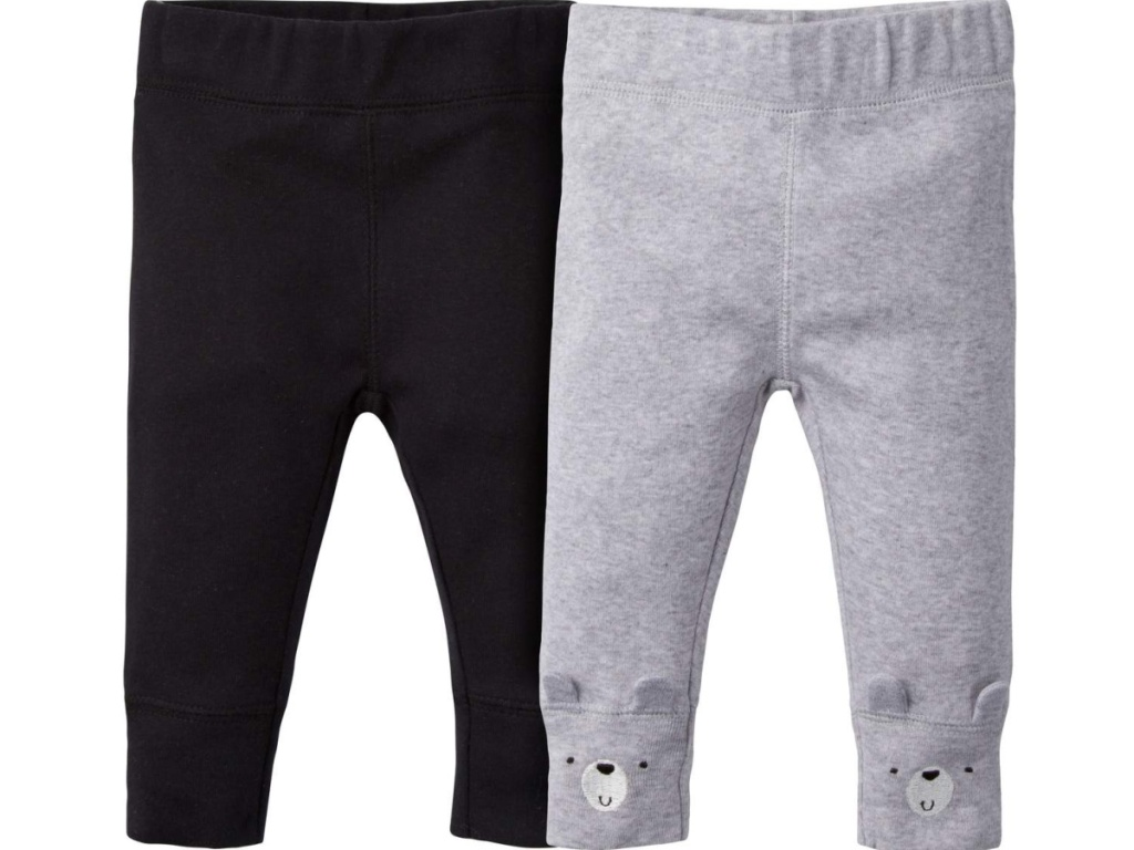 black and gray bear leggings