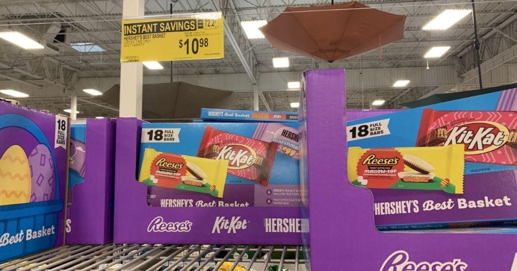 Hershey's assortment candy on store shelf