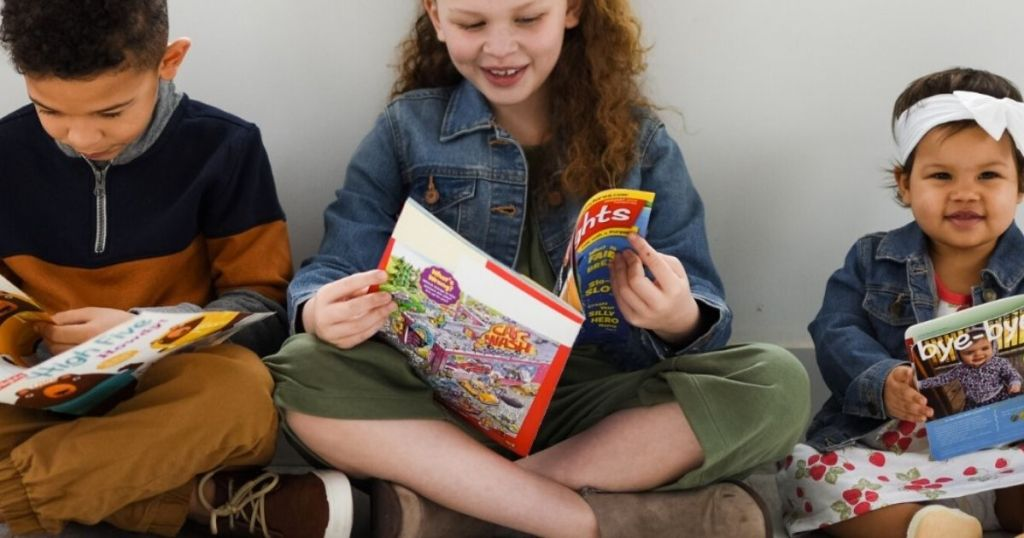kids' reading Highlights books