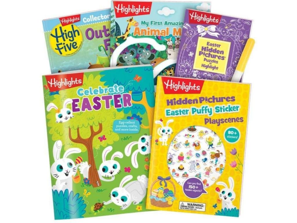 Highlights Easter book and magazines