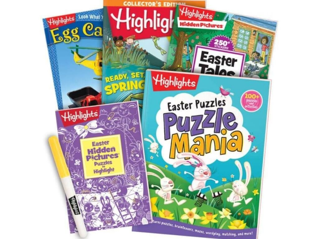 Highlights Easter magazines and books