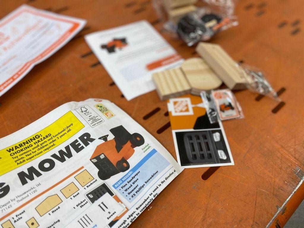 home depot mower kit