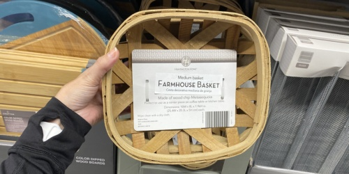 Farmhouse Baskets Just $8.99 at ALDI + More Home Finds