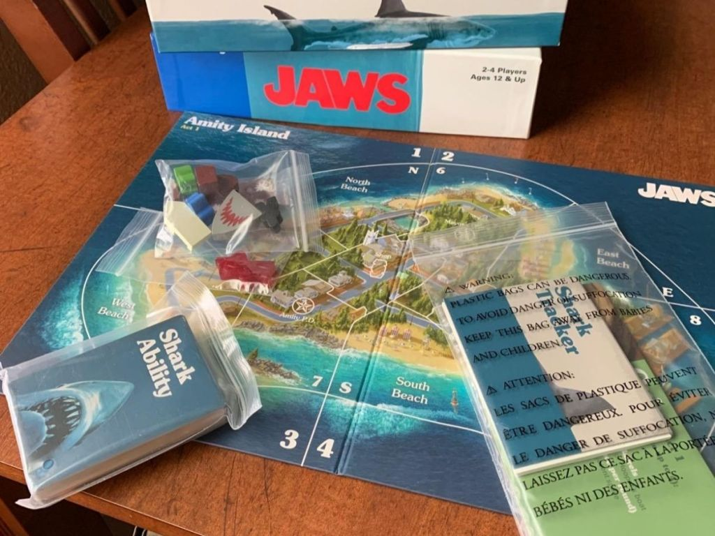 jaws board game on table