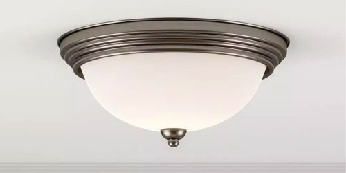 Ceiling Light Fixtures w/ LED Bulb from $6 on HomeDepot.com (Regularly $30+)